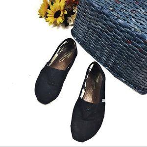 ☕️ 5/$25 Black Classic TOMs Slip on flats